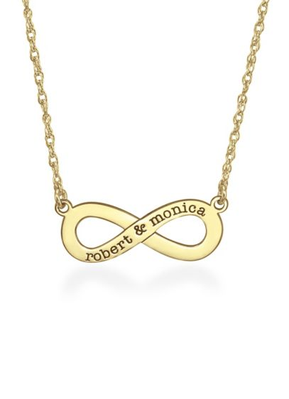 Yellow (Personalized Names Infinity Symbol Necklace)