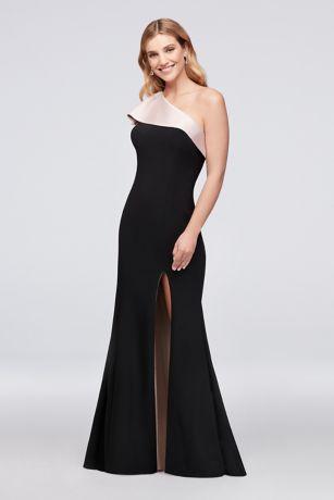 Long Sheath One Shoulder Dress - Xscape