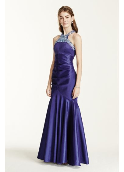 Long Mermaid/ Trumpet Halter Formal Dresses Dress - City Triangles
