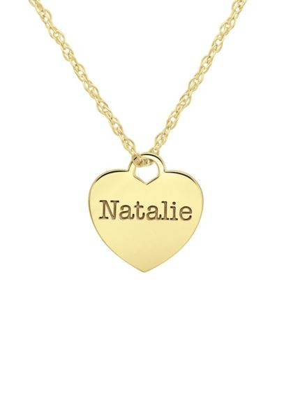Personalized Name Heart Pendant Necklace - Show some love with a pretty present for