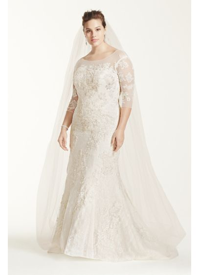 Oleg Cini 3 4 Sleeve Lace Trumpet Wedding Dress 8cwg638 Long Mermaid Formal