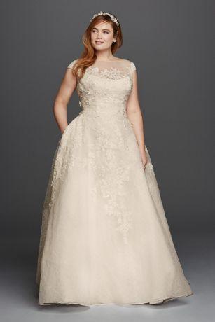 0bcc404c817 Long Ballgown Formal Wedding Dress - Oleg Cassini. Save