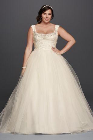 Oleg Cassini Off the Shoulder Lace Wedding Dress   David\'s Bridal