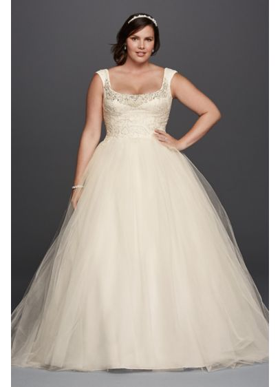 Long Ballgown Country Wedding Dress - Oleg Cassini