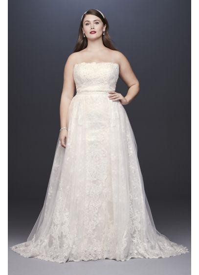 Long Sheath Boho Wedding Dress - Oleg Cassini