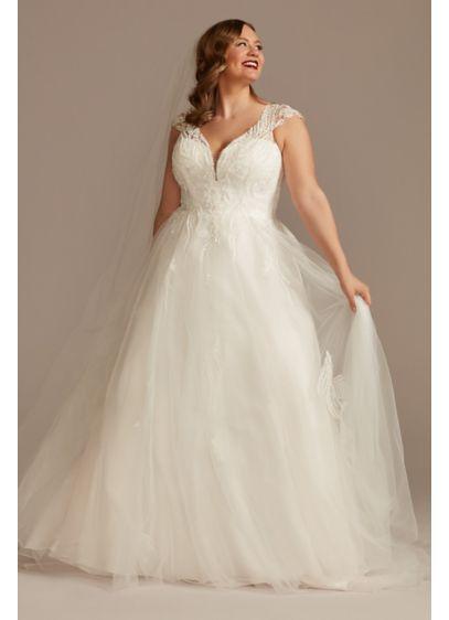 Long A-Line Country Wedding Dress - Oleg Cassini