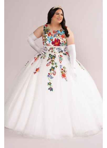 Long Ballgown Tank Quinceanera Dress - Fifteen Roses