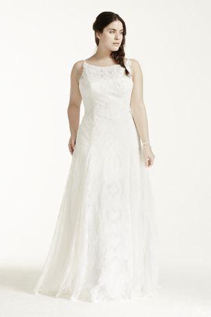 Long A Line Romantic Wedding Dress