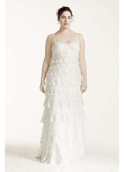 Melissa Sweet Tiered Lace Plus Size Wedding Dress Davids Bridal