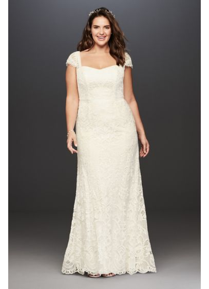 Melissa Sweet Vintage Lace Plus Size Wedding Dress | David\'s Bridal