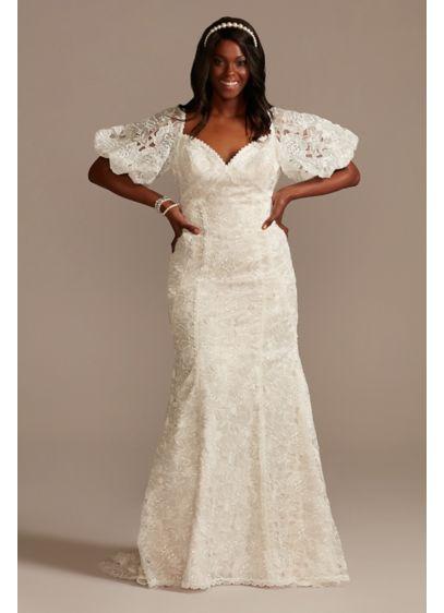 Long Mermaid / Trumpet Boho Wedding Dress - Melissa Sweet