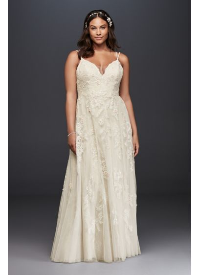 Long A-Line Beach Wedding Dress - Melissa Sweet