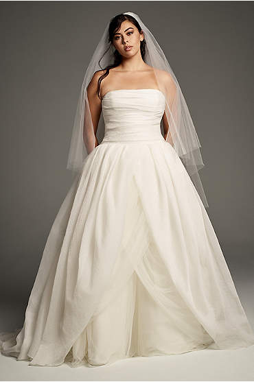 White by Vera Wang Organza Plus Size Wedding Dress