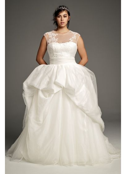 White by Vera Wang Plus Size Lace Wedding Gown