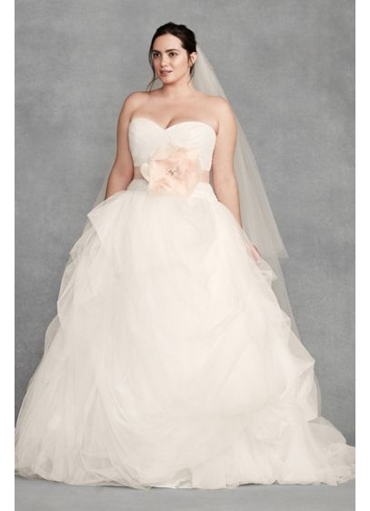 780395f1a48 Long Ballgown Formal Wedding Dress - White by Vera Wang