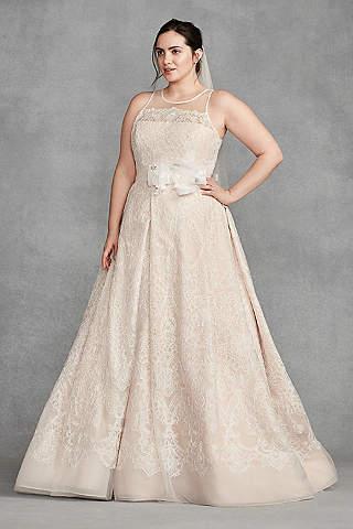 Vestido de Novia White by Vera Wang de Encaje de Macrame