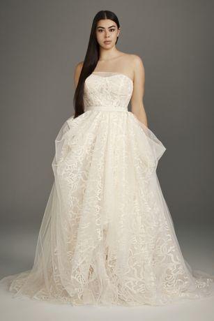 Stencil Sequin Plus Size Ball Gown Wedding Dress David S Bridal
