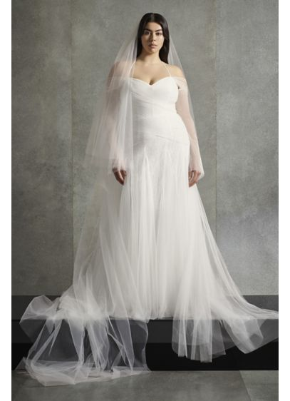 Long A-Line Modern Wedding Dress - White by Vera Wang