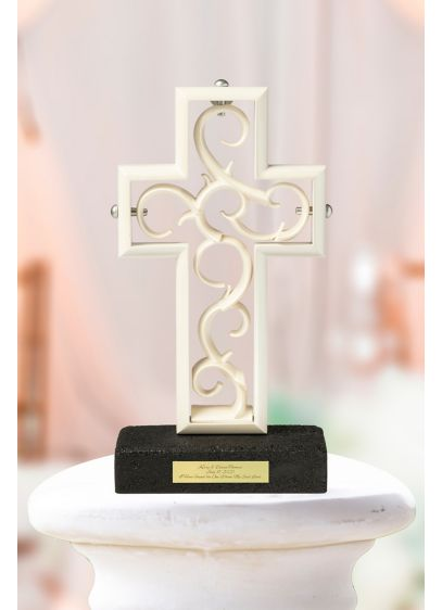 Timeless Pearlescent Unity Cross Sculpture - Assembled by the bride and groom during the