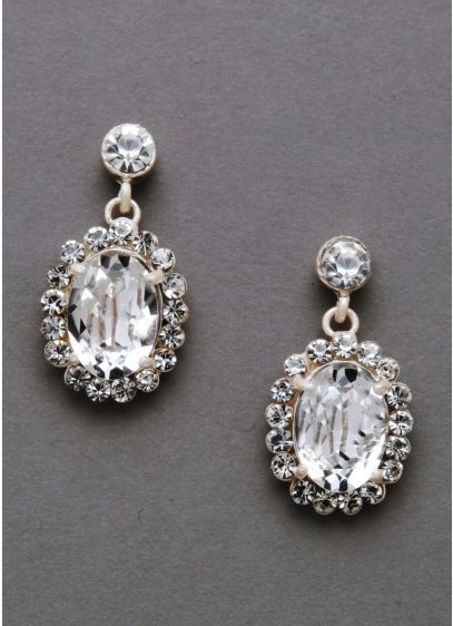 Large Sparkling Vine Crystal Earrings - Wedding Accessories