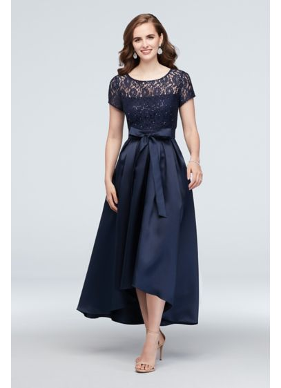 High Low Ballgown Short Sleeves Formal Dresses Dress - SL Fashions