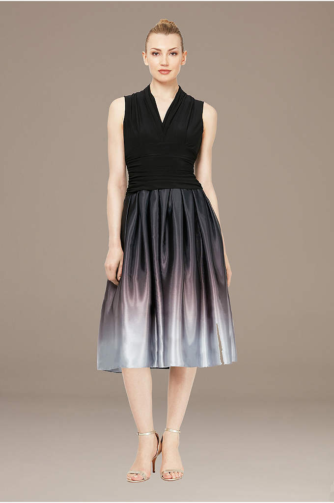Satin Charmeuse Party Dress with Ruched Waist
