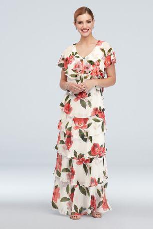 Long A-Line Short Sleeves Dress - Ignite