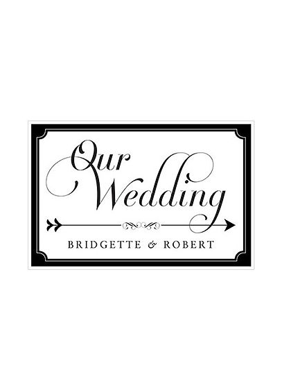 Black (Expressions Wedding Directional Sign)