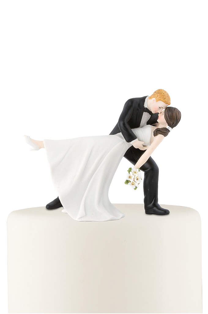 Personalized Dancing Bride and Groom Cake Topper - This couple is wrapped in a romantic embrace