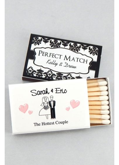 Personalized Classic Wedding Matches Set of 50 - Guests will know without a doubt that you