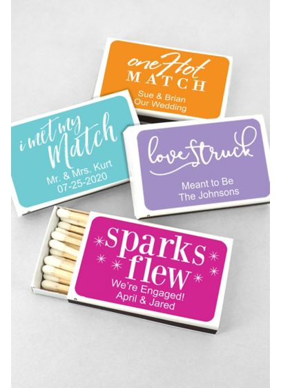 Personalized Perfect Match Matches Set of 50 - Wedding Gifts & Decorations