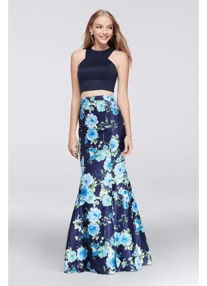 Long Mermaid/ Trumpet Halter Daytime Dress - My Michelle