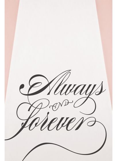 Always and Forever Aisle Runner - The Always & Forever Aisle Runner includes an