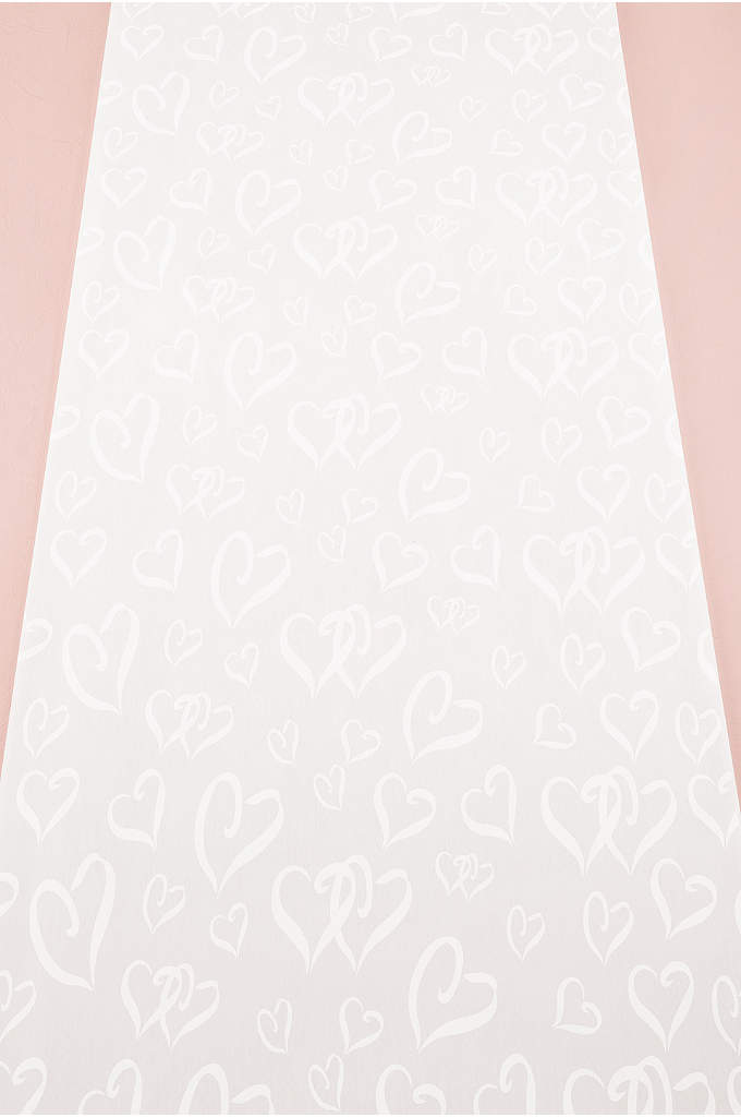 Heart Design Aisle Runner - The Heart Design Aisle Runner is made of
