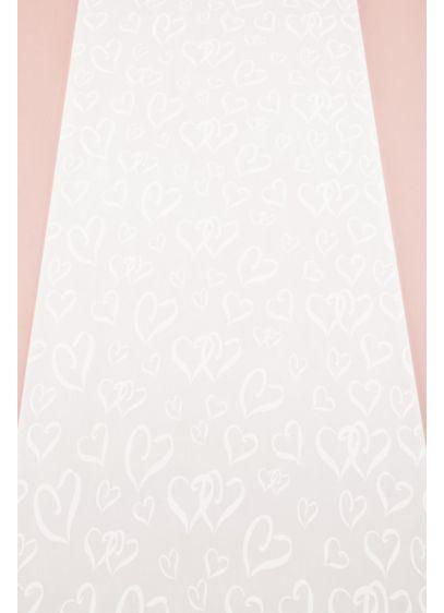 White (Heart Design Aisle Runner)