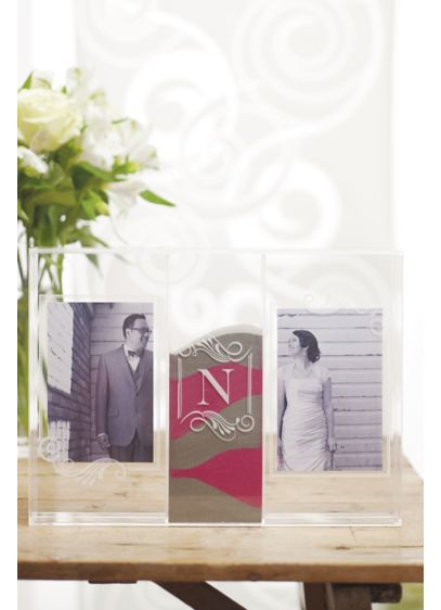 Personalized Sand Ceremony Shadow Box Photo Frame Davids Bridal