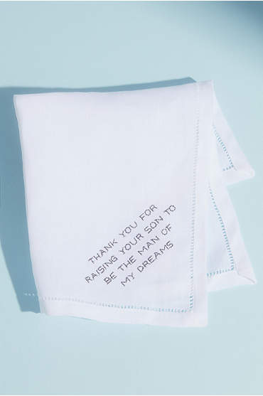 Thank You For Raising Embroidered Handkerchief