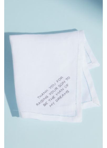 White (Thank You For Raising Embroidered Handkerchief)