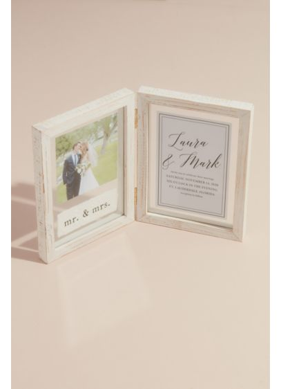 Pine Hinged Picture Frame - Wedding Gifts & Decorations