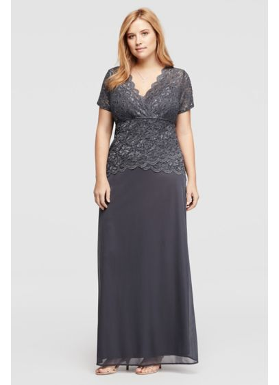Long Sheath Cap Sleeves Cocktail and Party Dress - Onyx
