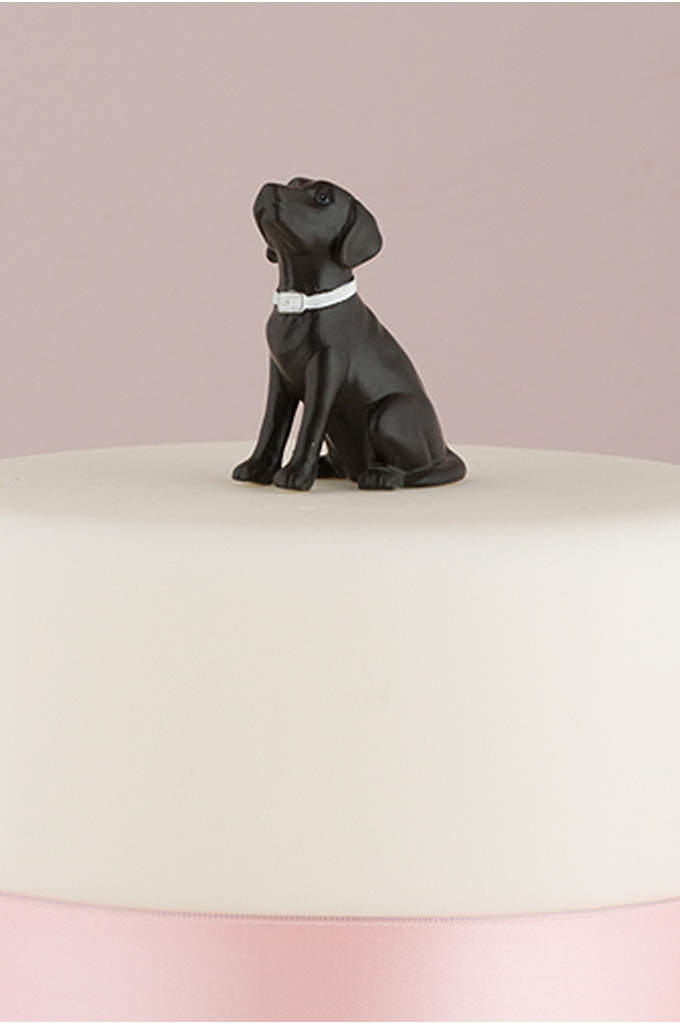 Dog Figurine Cake Topper - Have your favorite furry friend celebrating beside you