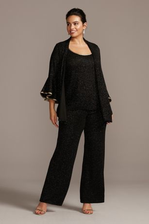Long Jumpsuit Jacket Dress - Onyx