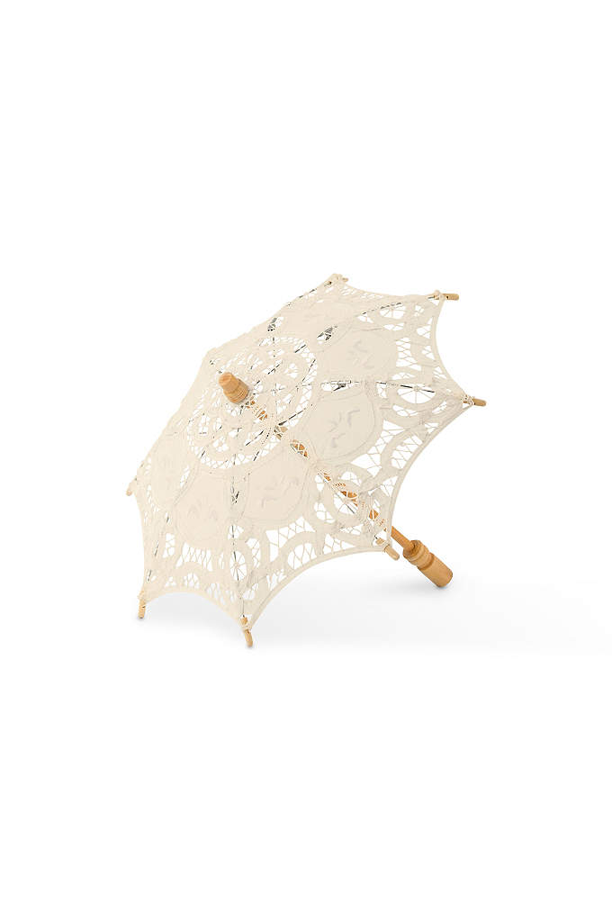 Antiqued Battenburg Lace Parasol - Dress up your ceremony or reception with these