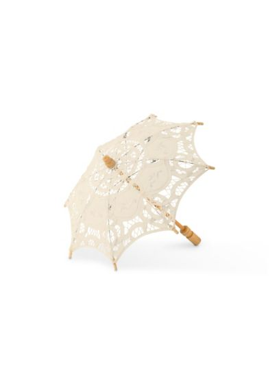 Antiqued Battenburg Lace Parasol - Wedding Gifts & Decorations