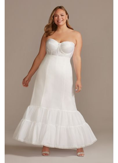 Full Fit and Flare Bridal Slip - Enhance your shape with this flattering fit and