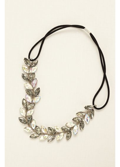 Leaf Motif Stretch Crystal Headband - Wedding Accessories