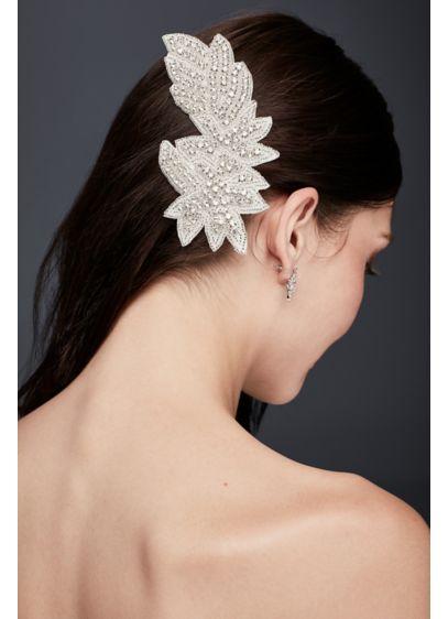 Rhinestone Leaf Hair Clip - Wedding Accessories