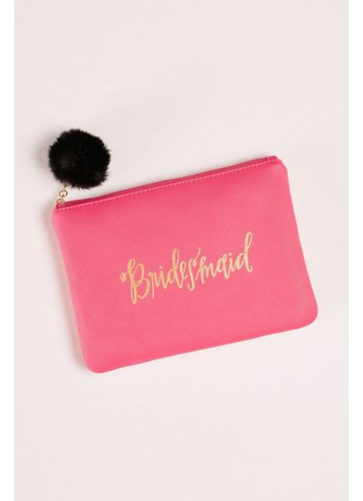 Bridesmaid Wristlet with Pom - Wedding Gifts & Decorations