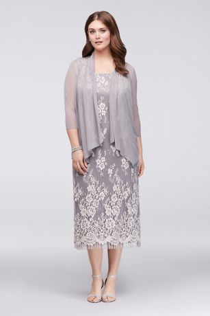 Plus Size Lace Wedding Dress with Jacket