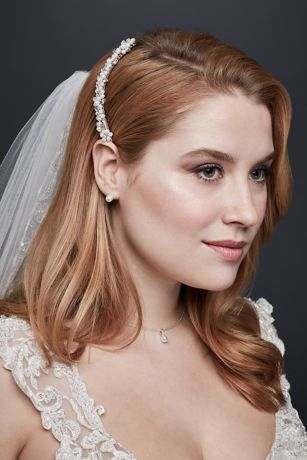 56707bbb Bridal Comb with Pearl Clusters | David's Bridal